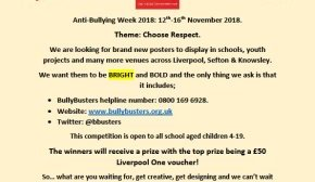 Bullybusters Launches Poster competition...